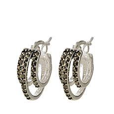 Black Marcasite Sterling Silver Triple-Hoop Earrings