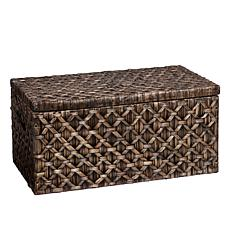 Blackwashed Water Hyacinth Storage Trunk