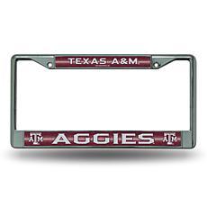 """Bling"" License Plate Frame - Texas A&M University"