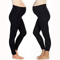 Blooming Women Maternity 7/8 Length Legging 2-pack - Black