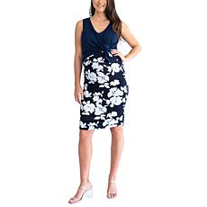 Blooming Women Nursing Swing Top and Fitted Skirt Outfit