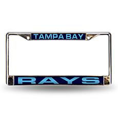 Blue Chrome License Plate Frame - Tampa Bay Rays