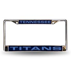 Blue Chrome License Plate Frame - Tennessee Titans