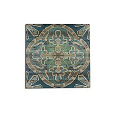 Blue Medallion 29x29 Print on Wood