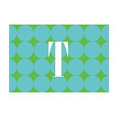 Blue Polka Dots Personalized Doormat