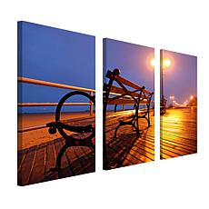 Boardwalk by CATeyes Canvas Art - Set of 3 Panels
