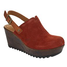 b.o.c. May Suede Slingback Platform Wedge
