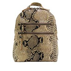 Born® Addams Leather Snake-Print Backpack