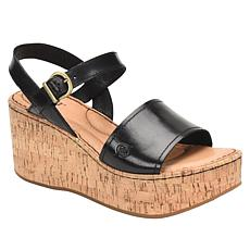 Born® Dorrah Leather Platform Wedge Sandal