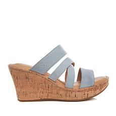 Born® Edithe Leather Platform Wedge Sandal