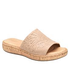 Born® Fishlake Embossed Leather Slide Sandal