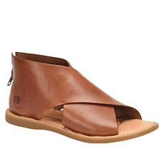 Born® Iwa Leather Back Zip Sandal