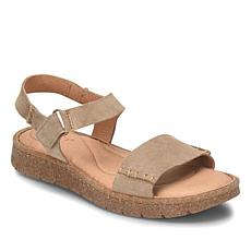 Born® Madira Leather Quarter Strap Sandal