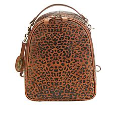 Born® Metro Leather Leopard-Print Backpack