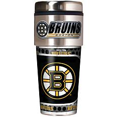 Boston Bruins Travel Tumbler w/ Metallic Graphics and Team Logo