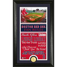 Boston Red Sox Fan Rules Supreme Bronze Coin Photo Mint