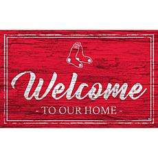 Boston Red Sox Team Color Welcome Sign - 11x19""