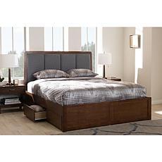 Brannigan Fabric Upholstered Queen Size Storage Platform Bed
