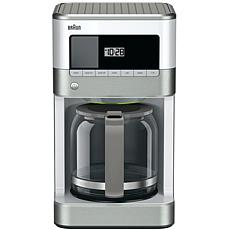Braun BrewSense 12-Cup Drip Coffee Maker in Stainless Steel/White