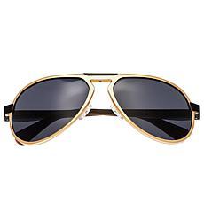 Breed Octans Titanium Polarized Sunglasses w Gold Frame & Black Lenses
