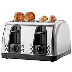 Brentwood Select Extra Wide Slot 4-Slice Toaster, Stainless Steel