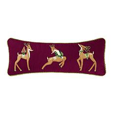 Bright Deer Quilted Pillow