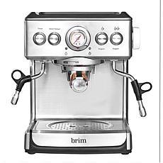 Brim 19 Bar Espresso Maker with Wood Handle