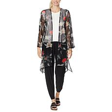 Brittany Humble Printed Mesh Knit Topper
