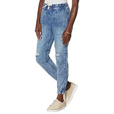 Brittany Humble Pull-On Denim Jean Jogger Pant