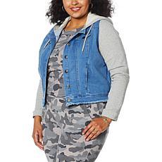 Brittany Humble Sweatshirt Denim Jacket
