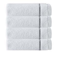 Broderie 100% Turkish Cotton 4-piece Wash Cloth Set