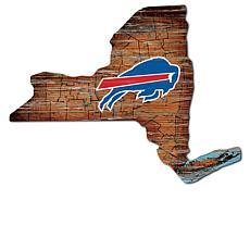 Buffalo Bills Distressed State with Logo