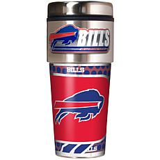 Buffalo Bills Travel Tumbler w/ Metallic Graphics and Team Logo