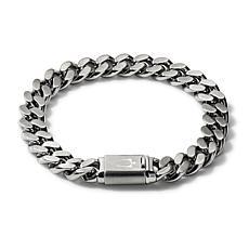 "Bulova Classic Men's Chain-Link Bracelet with Signature Clasp - 7.5"""