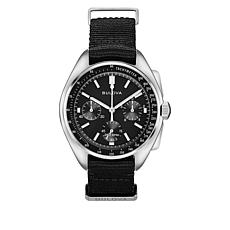 Bulova Lunar Pilot Men's Black Dial Chronograph with Tachymeter