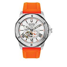 Bulova Marine Star Men's Orange Silicone Strap Chronograph Watch