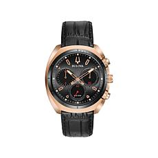 Bulova Men's CURV Chronograph Rosetone Watch