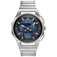 Bulova Men's CURV Chronograph Stainless Steel Bracelet Watch