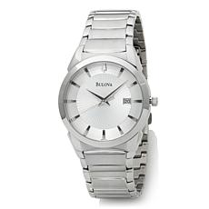 Bulova Men's White Sunray Dial Steel Dress Watch