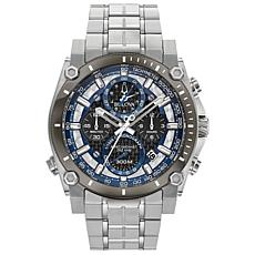 "Bulova ""Precisionist"" Silvertone Men's Chronograph Bracelet Watch"