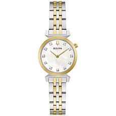 Bulova Regatta 2-Tone Women's Diamond Marker Bracelet Watch