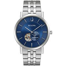 Bulova Stainless Steel Men's Link Bracelet Automatic Watch
