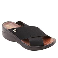 BzeBzees Desire X-Band Wedge Slide Sandal
