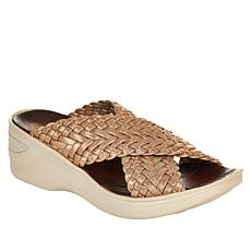 Bzees Dainty X-Band Wedge Slide Sandal