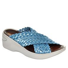Bzees Dainty X-Band Wedge Slide Sandal