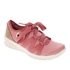 Bzees Glisten Ribbon Lace Washable Sneaker