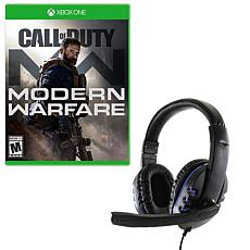 Call of Duty Modern Warfare and Gaming Headset for the Xbox One