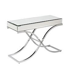 Callista Mirrored Console Table - Chrome