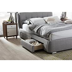 Camile Fabric Upholstered Queen Size Storage Platform Bed