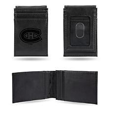 Canadiens  Laser-Engraved Front Pocket Wallet - Black
